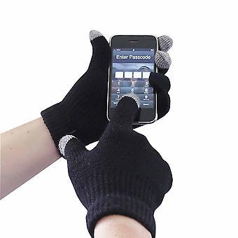 sUw - Touchscreen gebreide handschoen zwart XX3X