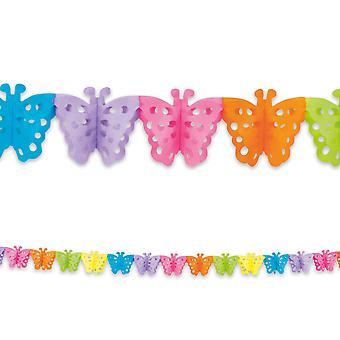4m langes Papier Girlande Girlande Schmetterling Kinder Party Decoratiom