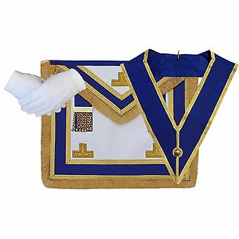 Masonic Craft Provincial Full Dress Apron and Collar with free Glove