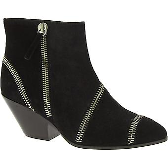 Giuseppe Zanotti Women's western heel ankle boots in black suede leather
