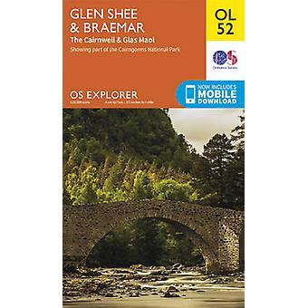 Glen Shee & Braemar - the Cairnwell & Glas Maol (May 2015 ed) by Ordn