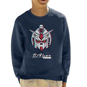 Gundam RX 78 3D Effetto Felpa da bambino