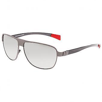 Breed Hardwell Titanium and Carbon Fiber Polarized Sunglasses - Gunmetal/Silver