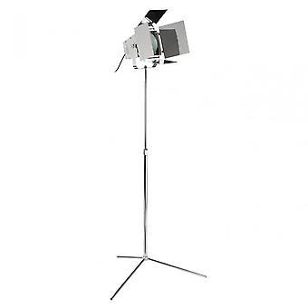 Premier Home Spotlight krom Golvlampa med EU plugg, kromad metall, svart