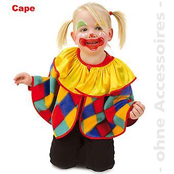 Clown Kids Cape Clown Cloak Costume Fool Costumes enfants