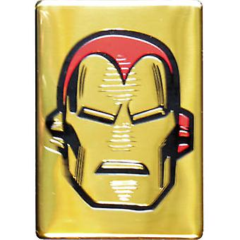 Magnet - Marvel - Iron Man - Metal Head on Gold New Toys Licensed m-mvl-0037-m