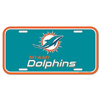 Wincraft NFL License Plate - Miami Dolphins