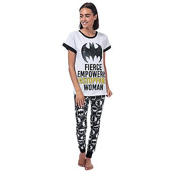 Womens DC Comics Batgirl Slogan Pyjamas in black.