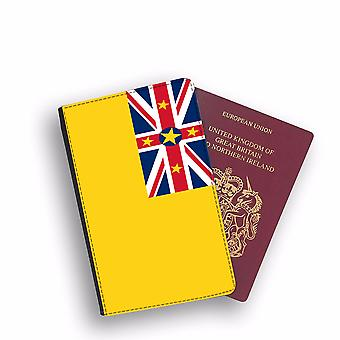 NIUE Flag Passport Holder Style Case Cover Protective Wallet Flags design