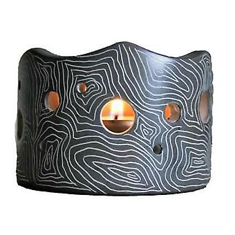 Grey Lantern Soapstone Candle Holder