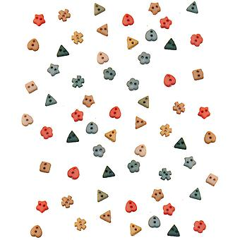 Dress It Up Embellishments-Tiny Rainforest Buttons DIUBTN-2209
