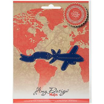 Find It Trading Amy Design Map Die-Airplane ADM10004