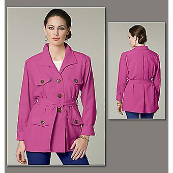 Misses' Jacket And Belt  Ff 16  18  20  22 Pattern V8732  Ff0