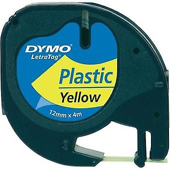 Labelling tape DYMO 91222 Tape colour: Hyper yellow Font colour:Black 12 mm 4 m