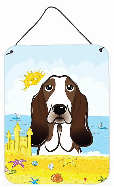 Basset Hound Summer Beach Wall or Door Hanging Prints BB2111DS1216