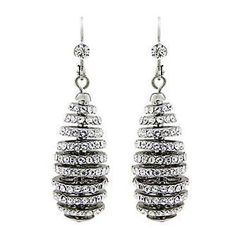 Butler and Wilson Crystal Spiral Rondell Earrings