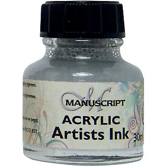 Manuscript Acrylic Artists Ink 30ml-Metallic Silver MDP0-50