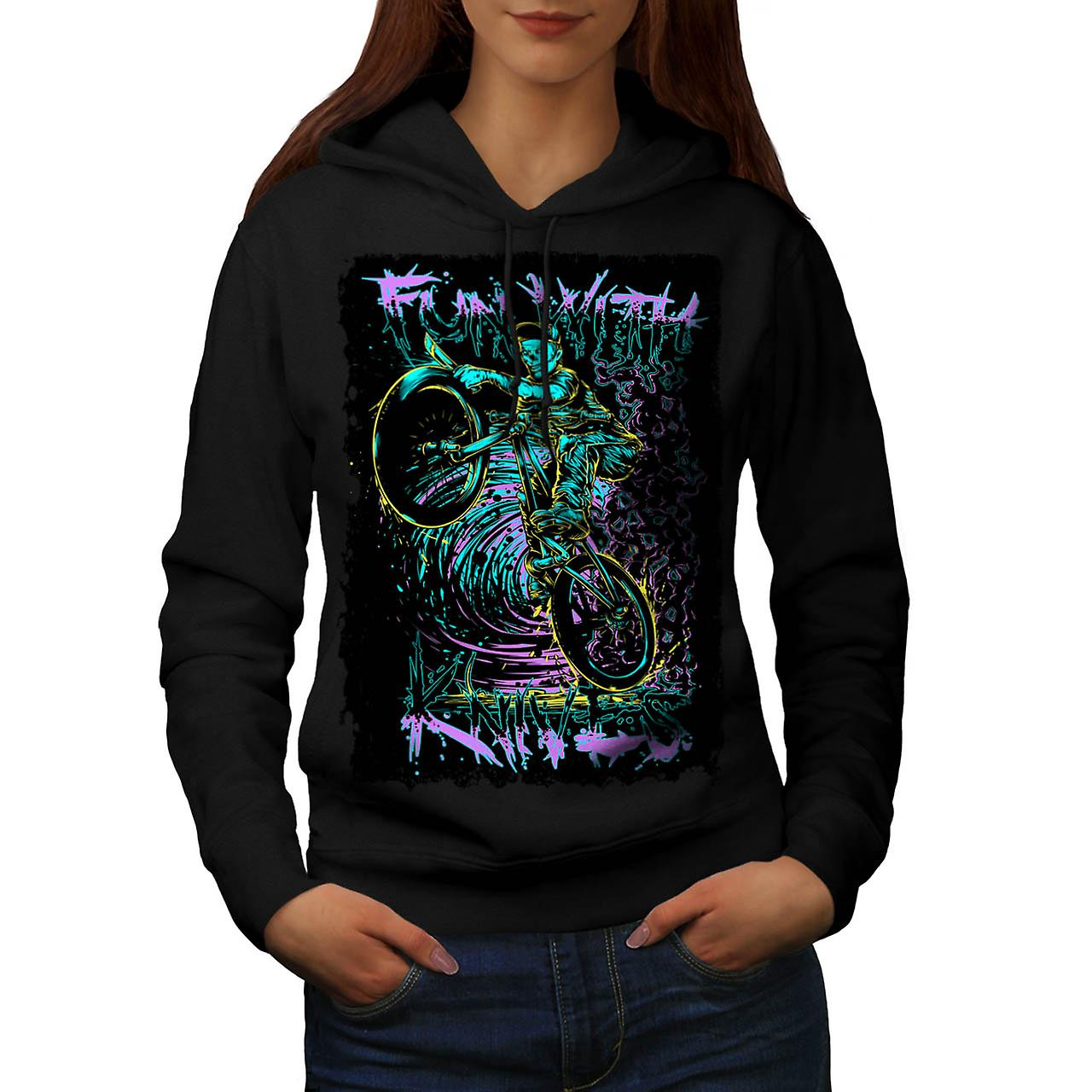Fun With Knives Rider Zombie Bike Women Black Hoodie | Wellcoda