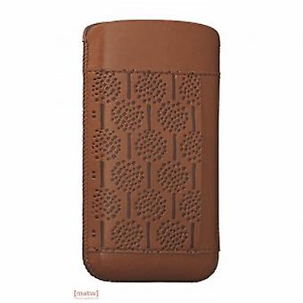 Ozak OC551FO iCoat art skov læder sag iPhone 5 5 S Brown