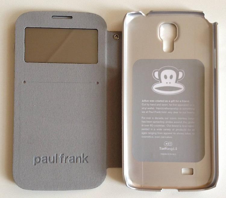 Original Paul Frank ® view bag cover leatherette for Samsung Galaxy S4 / LTE design Camo Grün