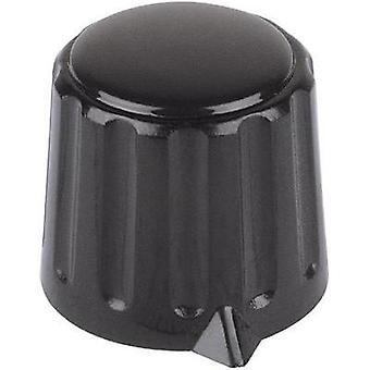 Mentor 4312.6131 Plastic Rotary Knob, Black, PBT, Collet Fixing