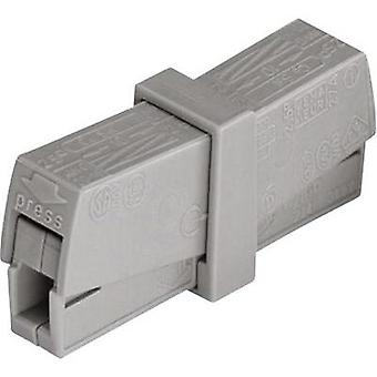 Connector clip flexible: 0.5-2.5 mm² rigid: 0.5-2.5 mm² Number of pins: 2 WAGO 1 pc(s) Grey
