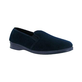 Mirak Shepton Classic Mens Slippers Navy Textile Upper Slip On Footwear Shoes
