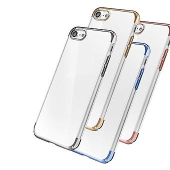 Black iPhone 7 Case Transparent Crystal Clear Case Gel TPU Soft Cover Skin