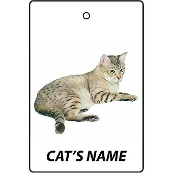 Personalised Australian Mist Cat Car Air Freshener