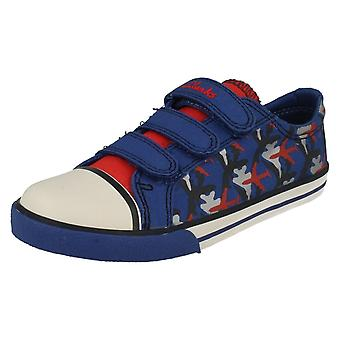 Boys Clarks Canvas Shoes Wing It