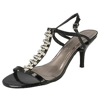 Ladies Spot On Strappy Sandals F1708