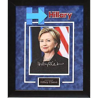 Hillary Clinton Signed Photo in Premium Poster Framed Case