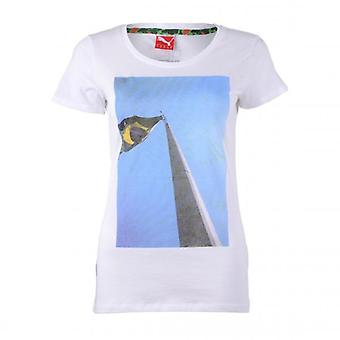 PUMA women's shirt collab tee white