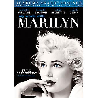 Min uge med Marilyn [DVD] USA import