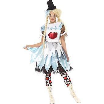 Alice Märchen Kostüm Blunderland Damen Kleid Halloween