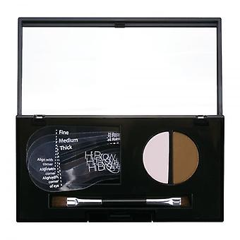 Hi Brow 24hr Brow Powder Compact - Light Brown