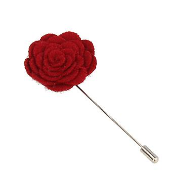 Snobbop revers-corsage flower pin brooch pin Red