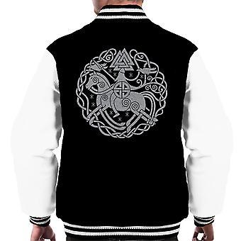 Odin Norse Viking Symbols Men's Varsity Jacket