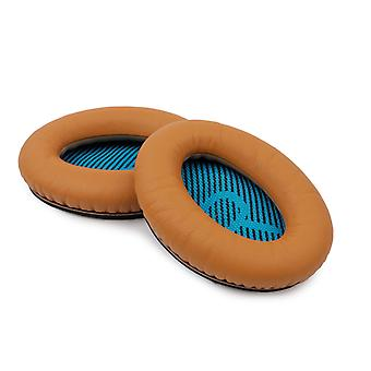REYTID Replacement Brown Ear Pads Kit for Bose QuietComfort 2 / QC15 / QC25 Headphones Cushions - 1 Pair Earpads