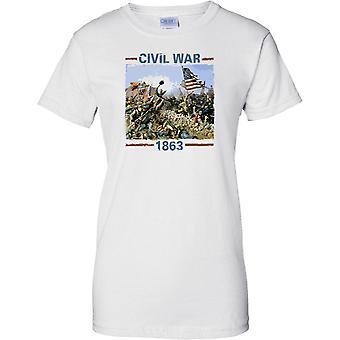 Amerikanischer Bürgerkrieg 1863 - Eidgenossen vs. Union - Damen T Shirt
