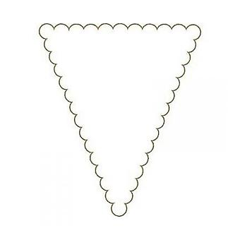 Craft UK White Scalloped Paper Bunting