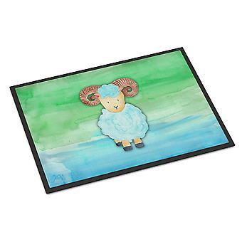 Carolines Schätze BB7418MAT Ram Schafe Aquarell Indoor oder Outdoor Matte 18 x 27
