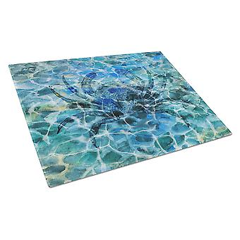 Carolines Treasures  BB5358LCB Crab Under water Glass Cutting Board Large