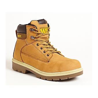 Worksite Nubuck Safety Boot. Steel Toe & Midsole.  Unisex Sizes 3-13 - SS613SM