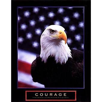 Courage - Eagle Flag Poster Print (22 x 28)