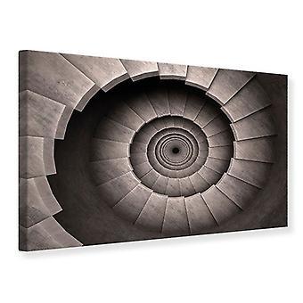 Canvas Print Stone Spiral Staircase