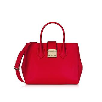 FURLA women's 920436 red leather handbags