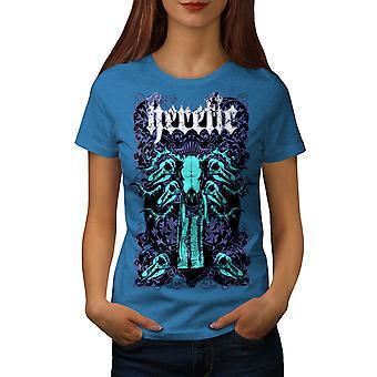 Kjetter dårlig fyr kunst kvinner Royal BlueT-skjorte   Wellcoda