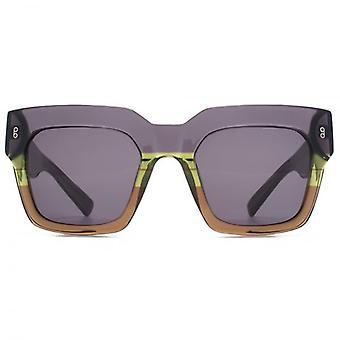 Hook LDN Genesis Chunky Square Premium Acetate Sunglasses In Grey Brown