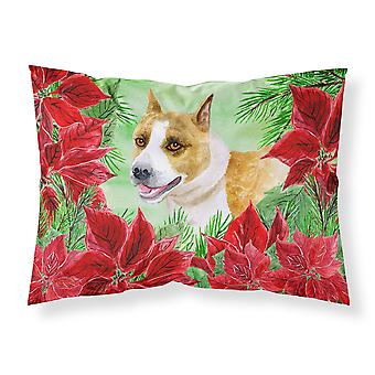 American Staffordshire Poinsettas Fabric Standard Pillowcase